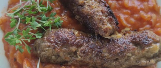 Prößlbauer Cevapcici mit Djuvec-Reis